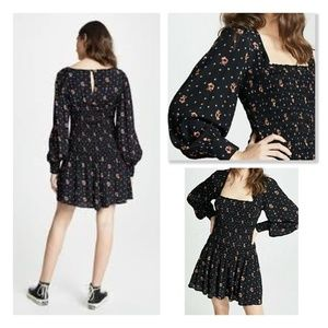 NWOT Free People Two Faces Long Sleeve Dress M
